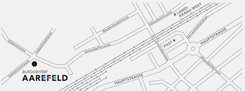 Anfahrtsplan Autocenter Aarefeld